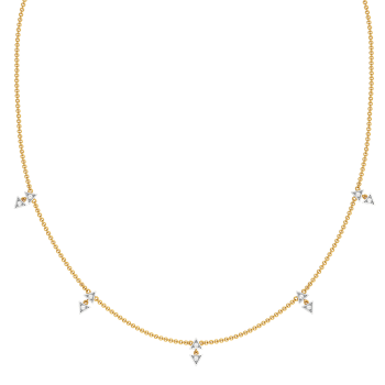 Arrowhead Beams Diamond Necklaces