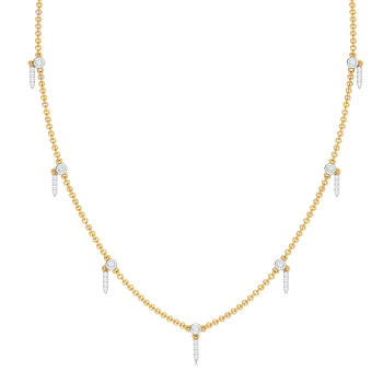 See - Saw Diamond Necklaces