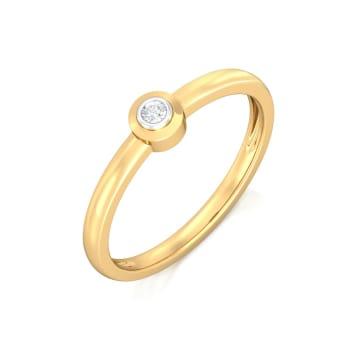 Diamond orb Diamond Rings