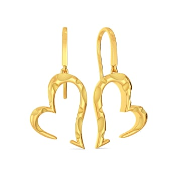 Love at First Sight Gold Earrings