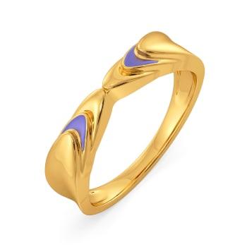 Lilac Vision Gold Rings