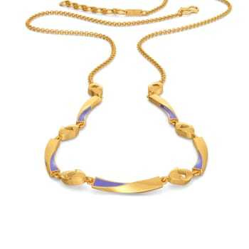 Lilac Vision Gold Necklaces