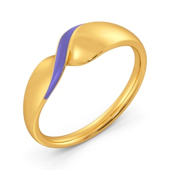 Lilac Palette Gold Rings