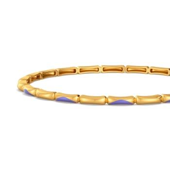 Lilac Allure Gold Bangles