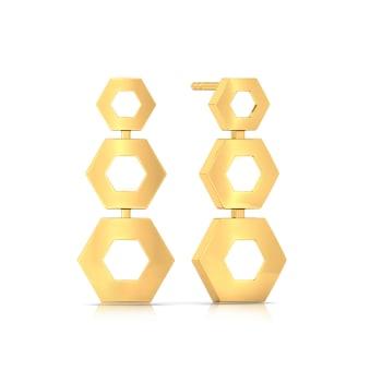 Ace A Maze  Gold Earrings