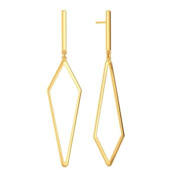 Asymmetric Vibes Gold Earrings