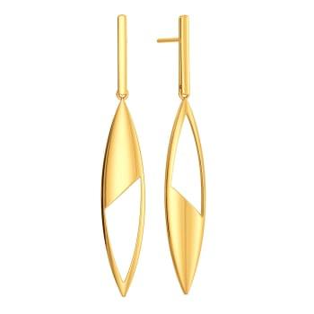 Leaf Streams Gold Earrings