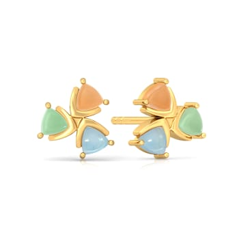 Confetti Cones Gemstone Earrings