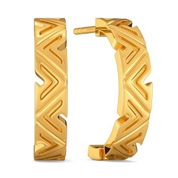 Short N Simple Gold Earrings