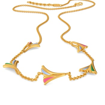 Groovy Drama Gold Necklaces