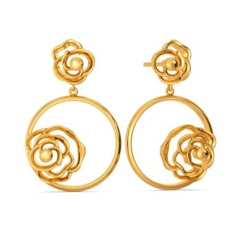 Rosaceae Gold Earrings