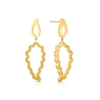 Electric Paisley Gold Earrings