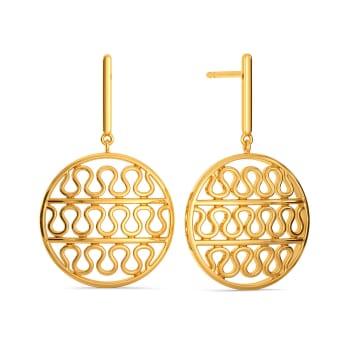 Knit Me Knot Gold Earrings