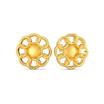 Chain Domain Gold Earrings