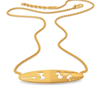 Cheery Scarf Gold Necklaces