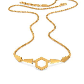 Bell Bottomed Gold Necklaces