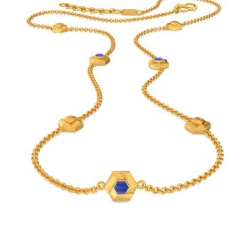 Denim Drama Gold Necklaces