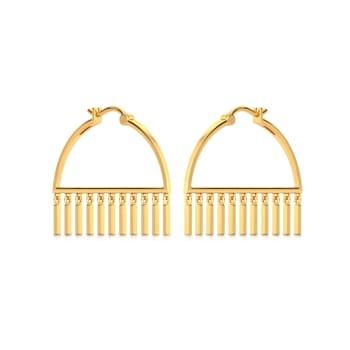 OTT Toss Gold Earrings