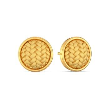 The Herringbone Gold Earrings