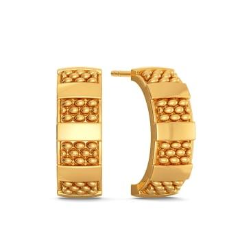 The Tweed Trove Gold Earrings