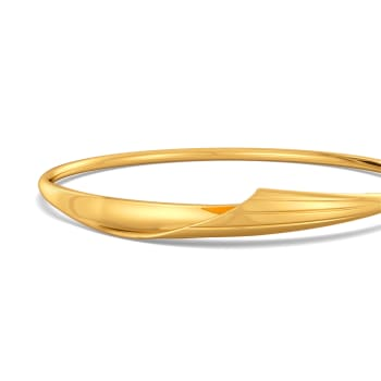 Twirl in Tassels Gold Bangles
