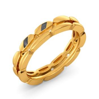 Boldly Black Gold Rings