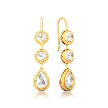 White Mist Gemstone Earrings