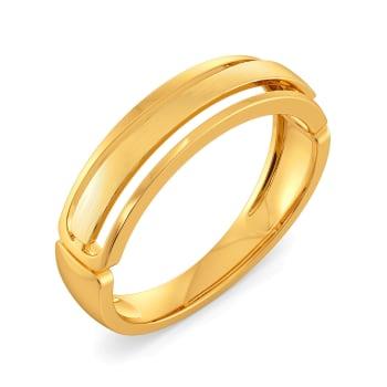 Sleek Suave Gold Rings