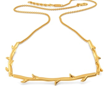 Roses N Thorns Gold Necklaces