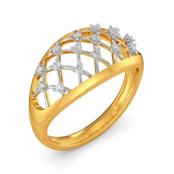 Crochet Corner Diamond Rings