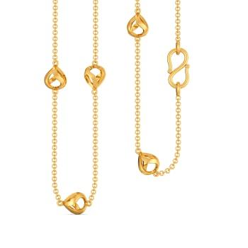 Calm N Curvy Gold Chains