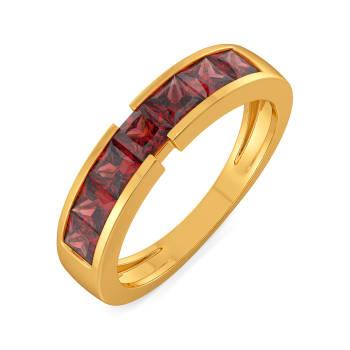 Red in Retro Gemstone Rings