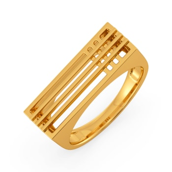 Cross Contours Gold Rings