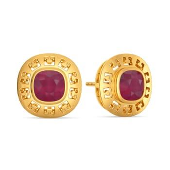 Ruddy Ruby Gemstone Earrings