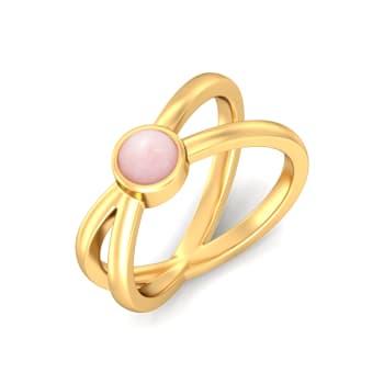 Blush of Gold Gemstone Rings