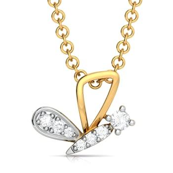 Utter Flutter Diamond Pendants