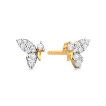 Flutter Fly Diamond Earrings