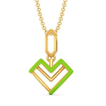 Love Pines Gold Pendants