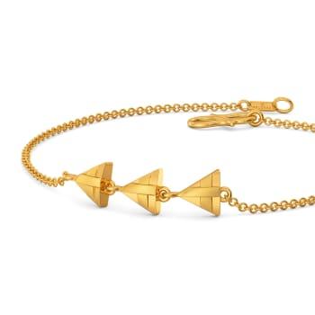 Triangle Trippin' Gold Bracelets