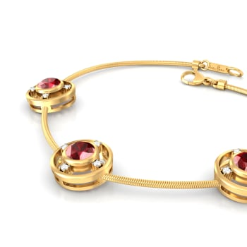 Gorgeous in Garnet Diamond Bracelets