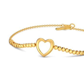 Dancing Hearts Gold Bracelets