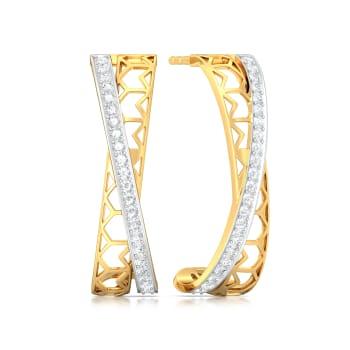 Crossover Lace Diamond Earrings