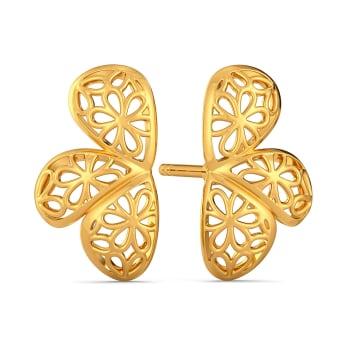 Lace Twinning Gold Earrings