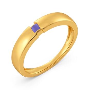 Lilac Hues Gold Rings