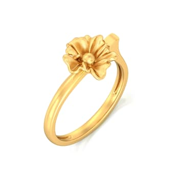 Urban Blossoms Gold Rings