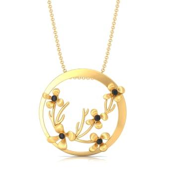 Floral Enigma Gold Pendants