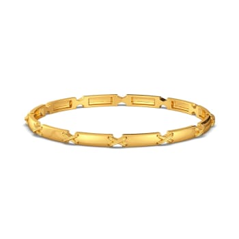 The Cross Bows Gold Bangles