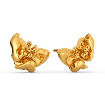 Poppy Prairie Gold Earrings