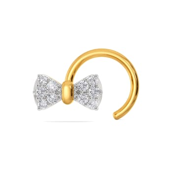 Brace for Bow Diamond Nose Pins