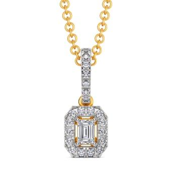 Broad Quad Diamond Pendants